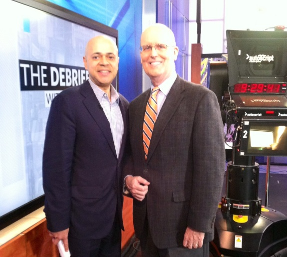 With David Ushery, host of The Debrief on WNBC-4